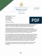 Lake Michigan Shoreline Emergency Letter