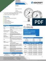 Datasheet t5500 t6500 Pressure Gauges