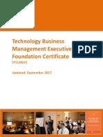 Technology Financial Management Certification