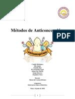 Métodos de Anticoncepción de Estudiantes de Enfermería