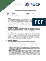 Sílabo Temas en Antropología de lo Político 2019-II