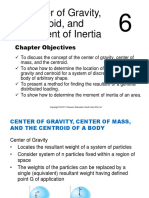 Center of Gravity, Centroid, and Moment of Inertia
