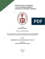 Proyecto de Investigación y Operacionalización de Variables