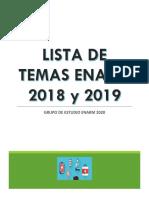 Temas Enarm Por Especialidad- 2018 y 2019