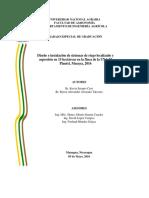 Sistema de Riego. Nicaragua
