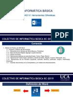 Unidad IV - Presentación #1 – Creación y Edición de Documentos
