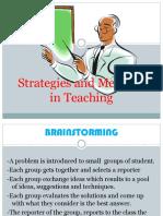 Teaching Strategies & 4A's