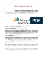 What is MS Dynamics AX and Its Uses