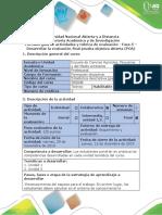 Guía de Actividades y Rúbrica de Evaluación - Fase 5 - Desarrollar La Evaluación Final Prueba Objetiva Abierta (POA)