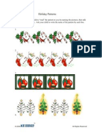 Activity | PreK-K | Holiday Patterns