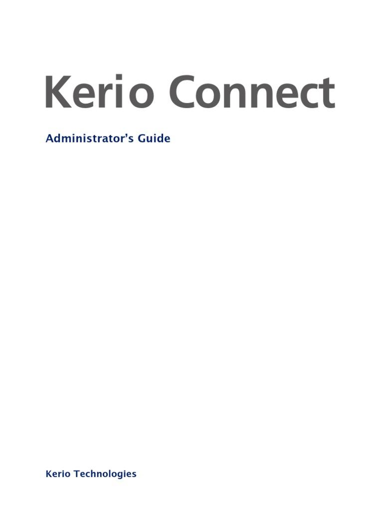 Kerio Connect Admin Guide En 710 1792 Port Computer Networking