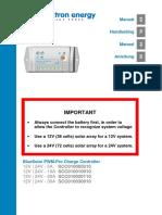 Manual BlueSolar PWM Pro Charge Controller en NL FR de ES SE