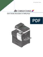 User Manual Konica MInolta C3350