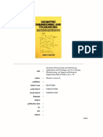Geometric Dimensioning and Tolerancing, Workbook and Answerbook1997