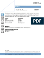 Formulation Traffic Film Remover