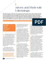 Skin adhesives and their role in wound dressings
