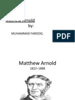 Presentation Mathew Arnold