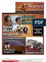 The Late November, 2010 edition of Warren County Report