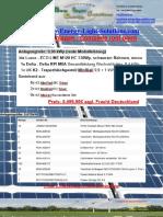 Photovoltaik Komplettanlagen mit und ohne Speicher // Photovoltaic complete systems with and without storage
