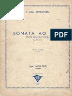 Partitura para piano sonata ao luar beethoven