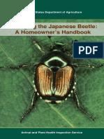 Managing the Japanese Beetle a Homeowner's Handbook