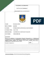 International Financial Management Assignment