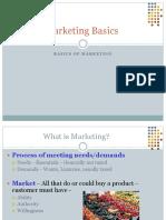 Basics of Marketing Process