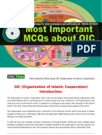 Most Important MCQs about OIC (Organisation of Islamic Cooperation).pdf
