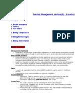 Billing Practice Management.doc