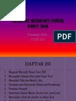 Utik Siskomdig x Ku 2 Tugas Powerpoint 2010
