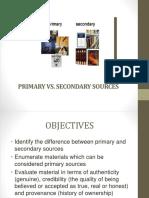 Primary vs. Secondary Sources4