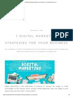 7 Digital Marketing Strategies for Your Business - Devalwebsolutions.com