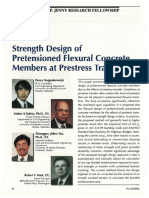 Strength Design of Pretensioned Flexural Concrete