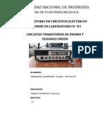 LABORATORIO N°4 CIRCUITOS TRANSITORIOS DE PRIMER ORDEN DIFERENCIADOR E INTEGRADOR