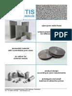 Porous Aluminum Product Catalog 2019