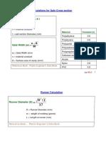 mold design calculations