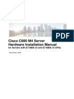 Cisco C880 M4 Server Hardware Installation Manual