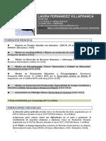 Curriculum. Laura Fernández Villafranca.profesor
