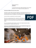 Ceramic and Vitrified Tile Manufacturing Process