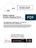 Application Audit Process Guide Information Security Professionals 1534
