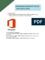 Instalar el programa Microsoft Office 2016 (Excel 2016)
