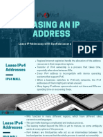 Leasing IP Addresses | IPv4 Lease