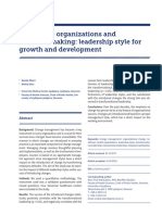07 Healthcare Organizations and Decision Making Leadership Style for Growth and Development