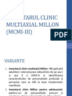 Inventarul Clinic Multiaxial Millon (Mcmi-III)