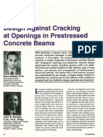 Openings in Prestressed Beams