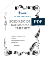 Informe de Elaboracion de Un Transformador Enrique