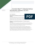 Forrester Wave Backup