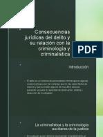 Consecuencias jurídicas del delito
