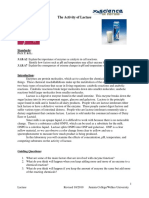 Lactase Enzyme Spectrophotometry