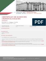 Certificat de Sciences Criminologiques